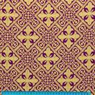 Каменный цветок фиолетовый/золото